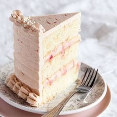 An inside look at yesterday's Ginger Rhubarb Layer Cake. Check out that rhubarb-cream cheese swirl filling!! Recipe #ontheblog #stylesweetca