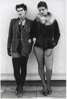 Punk girls photographed by Steve Johnston, London, 1977