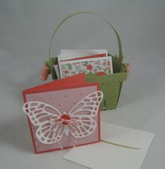 Berry Basket and 3x3 Cards- Stampin' Up by Miechelle Weber