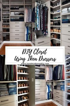 Hottest Free DIY Custom Closet - IKEA TARVA & IVAR HACK - Handmade Weekly Popular An Ikea children's room continues to intrigue the little ones, because they are provided a great Dresser In Closet, Closet Redo, Ikea Dresser, Bedroom Closet Design, Master Bedroom Closet, Closet Designs, Diy Bedroom, Shoe Closet, Bedroom Small