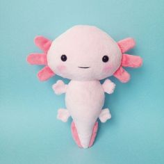 Plush axolotl toy - Cuddly Stuffed toy axolotl - axolotl softie - axolotl plushie - kawaii axolotl - handmade toy