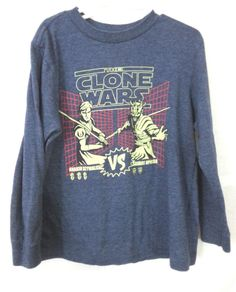 Boy's Old Navy Clone Wars Shirt Size Small Long Sleeves Blue #OldNavy #DressyEveryday