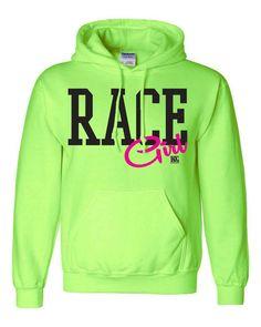 Race Girl Bright Green Hoodie