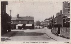 4 Church Street Little Lever. 1919 Small Towns, North West, Street View, England, English, British, United Kingdom