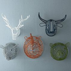 Wire Animal Heads Kids Bedroom Decoration | Company Kids