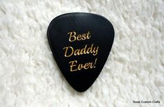 Father's Day Pick Personalized Custom Engraved Guitar