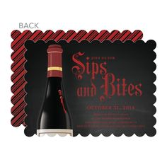 Sips and Bites: Siren Halloween Party Invitations