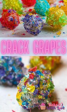 Hard Candy Recipes, Grape Recipes, Fruit Recipes, Candied Grapes Recipe, Candied Fruit, Jolly Rancher Hard Candy, Jolly Rancher Candy Recipe, Fun Desserts, Delicious Desserts