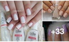Melhores dicas para unhas francesinhas perfeitas Manicure And Pedicure, Nail Polish, Manicures, Beauty, Alice, Internet, Brittle Nails, White Nail Beds, Colorful Nails