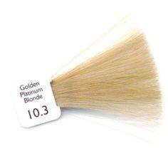 Natulique 10.3 golden platinum blonde Blond platine doré #NATULIQUE #coloration #cheveux #haircolour #hair #organic #beauty #natural #substainable