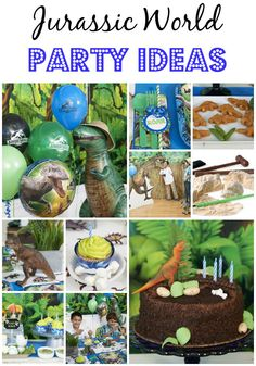 Are you on the hunt for Jurassic World Party Ideas? From awesome supplies, to cool ideas for food and activities, you'll throw a dino-worthy party. Birthday Party At Park, Dinosaur Birthday Party, Birthday Fun, Birthday Party Themes, Birthday Ideas, Blue Birthday, Birthday Stuff, Jurassic World, Lego Jurassic