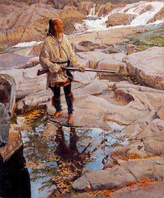 "John Buxton painting - Distant Echo 12"" x 10"" oil"
