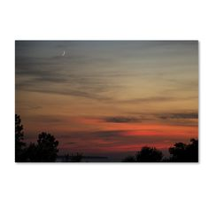 New Moon Sunset by Kurt Shaffer Photographic Print on Wrapped Canvas
