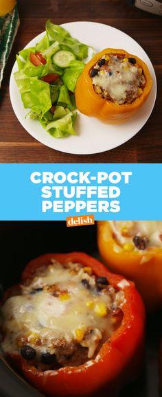 Crock-Pot Stuffed PeppersDelish