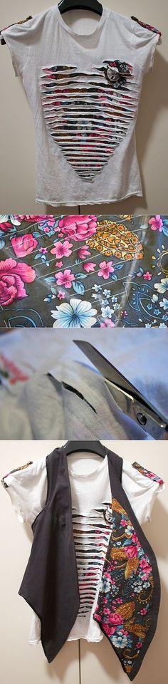 Chenille technique to enhance a simple shirt.