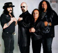 Lemmy, Rob, DIO and Chuck.