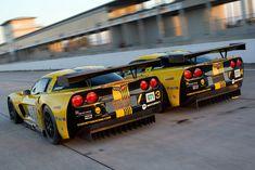The Number 3 & 4 Pratt & Miller Chevrolet Corvette C6.R GT1's