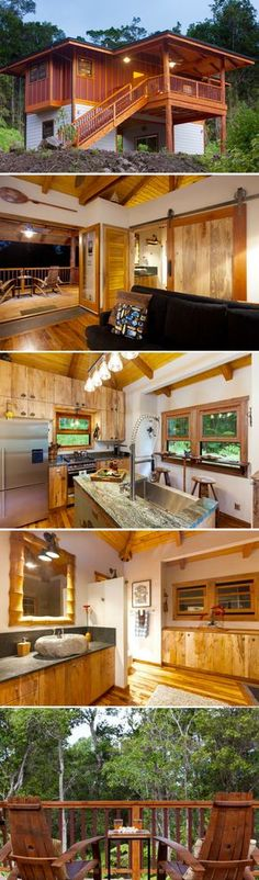 Container House A gorgeous 760 sq ft cottage in Hawaii Who Else Wants Simple Step-By-Step Plans To Design And Build A Container Home From Scratch? Casas Containers, Building A Container Home, Tiny House Nation, Cabins And Cottages, Small Cabins, Tiny House Living, Tiny House Design, Small House Plans, Little Houses