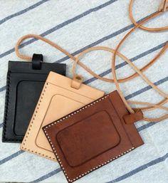 Minimaliste手工縫製證件套/ 名片套(掛頸)