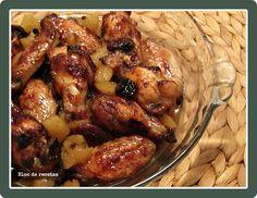 Bloc de recetas: Alitas de pollo con manzana al vino blanco