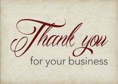 """Thank you for your business."" This is a real card (not an e-card) shared from Sendcere. #thankyou #business"