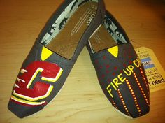 Central Michigan University Shoes by KaitlynsPaintedShoes on Etsy. Obsessed. She hand paints these. Too cute!