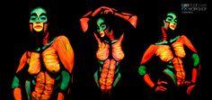 Party on Glow - BodyPaint de Neon para Fiestas