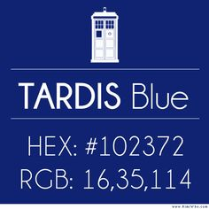 Just in case you were wondering how to get TARDIS blue.