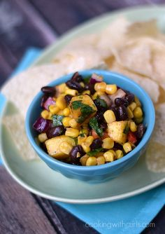 This Black Bean Salsa is so versatile, it can be used as a dip, on salads, and in wraps.