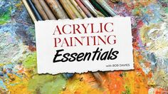 The Acrylic Painting Essentials Course will teach you fundamental acrylic painting techniques that you can then apply to any subject matter you choose to paint. It covers things like materials, brushwork, colour mixing and tonal value. Many of the lessons in our other acrylics courses will assume you know the basics taught in this course, so this a great place to start if you're a newcomer to the medium. See the full list of lessons (+) See the full list of lessons (-) Section 1 - Materials…