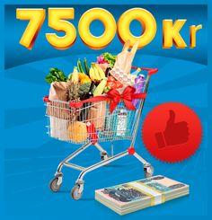 Vind et gavekort til et valgfrit supermarked på 7500 kr.!!
