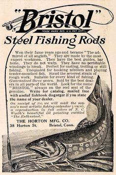 Vintage fishing rod ad www.lodgemonster.com