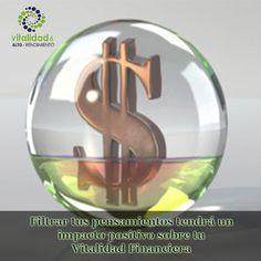 """ÁREA TEMÁTICA DEL DÍA: """"VITALIDAD FINANCIERA"""". ¿Qué tanto puede ayudarte en tus finanzas el que filtres tus pensamientos de manera positiva? El éxito financiero esta depende mucho de tus pensamientos, ya que ellos guían tus acciones, relaciones y formas en que manejas tus finanzas.  #VitalidadFinanciera"""