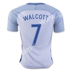 2016 European Cup England WALCOTT Home White Thailand Soccer Jersey