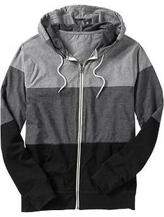 men's color-block lightweight zip-hoodie | old navy