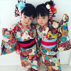 Cute Japanese twins