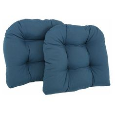 Blazing Needles Twill U-Shaped Indoor Chair Cushion - Set of 2
