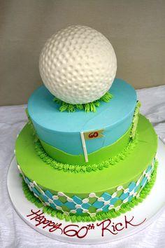 Golf Themed Birthday Cake Dessert Works Westwood Ma