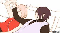 Cuddle with me-SasuSaku
