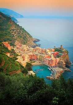 The best place to visit in June - Italy -  Vernazza Marina.