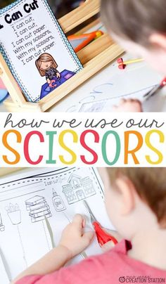 As early childhood education teachers, we want to make sure that our students know the proper way to use a pair of scissors. Some of them may have never used a pair of scissors before your class. During the first week of school, introduce how to use scissors to your preschool, pre-k, and kindergarten students. Here is a free printable to help you with that. #freeprintable #scissors #prek #preschool #kindergarten #howto #backtoschoolideas