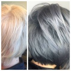 """TRANSFORMATION: Pretty Blonde To """"A Little Edgy"""" Silver - Career - Modern Salon"""