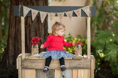 This is a small booth I made for a photographer, turned out great and kids add cuteness to it https://www.etsy.com/shop/Attic22