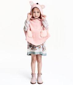 Knit Poncho   Light pink   Kids   H&M US