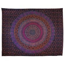 This exotic floral napthal tapestry will add earthy bohemian style to any space. Use it as a wall hanging, tablecloth, bedspread, picnic blanket, and more! Please note: all tapestry measurements are approximate. $30.00