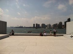 Louie Kahn, FDR memorial, Roosevelt Island, NYC. View to the South Roosevelt Island, Architects, Louvre, Nyc, Memories, Building, Travel, Memoirs, Souvenirs