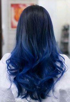 5 Midnight Blue Hair Color Ideas For A Unique Look .- 5 Midnight Blue Hair Color Ideas For A Unique Look // # For Color - Midnight Blue Hair, Dark Blue Hair, Hair Color Blue, Cool Hair Color, Deep Blue, Black To Purple Ombre, Hair Colours, Colors, Green Hair