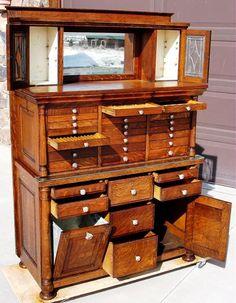 Oak dental cabinet.. COOL! #dentist