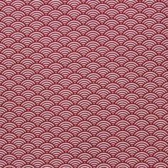 Tissu en coton à motifs géométriques blanc et rouge
