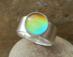 Sterling Silver 925 Mood Ring  Mood by SilverbirdDesignsUK on Etsy